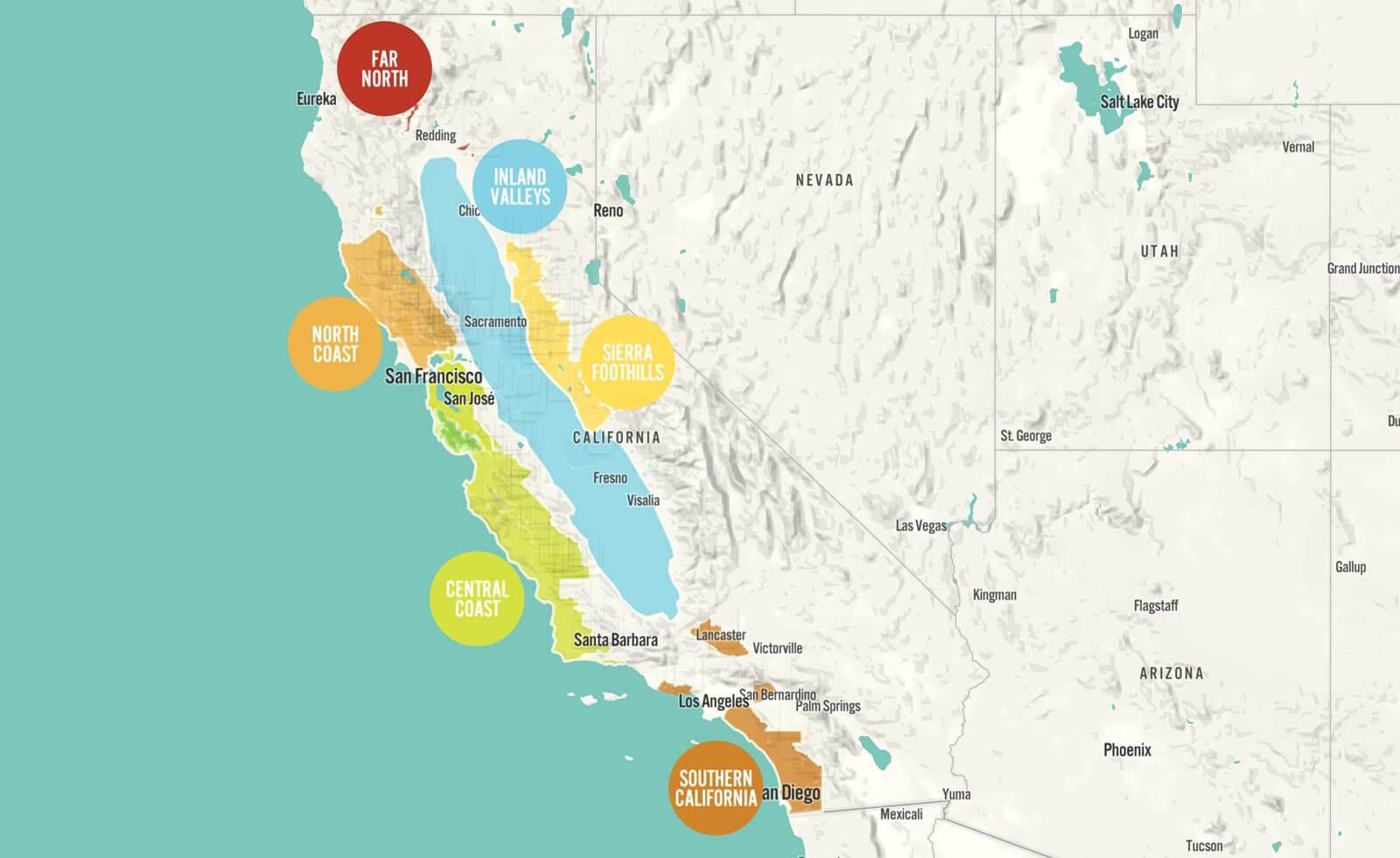 【カリフォルニアワイン初歩の初歩】 「ワイン州」カリフォルニア、バラエティーは多彩